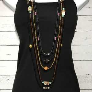 5 Seed Bead Necklaces